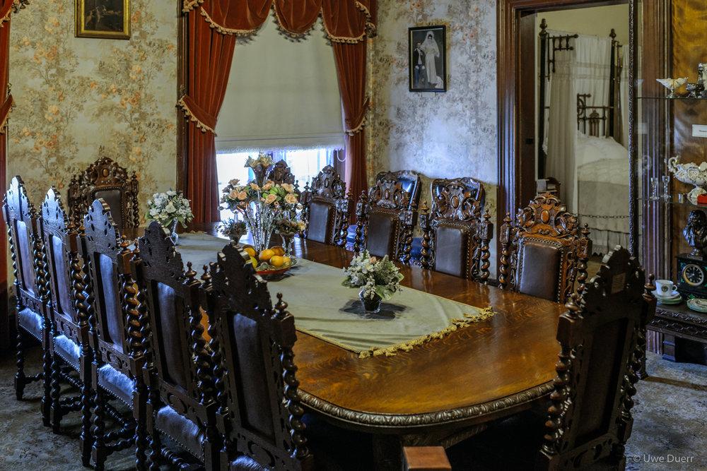 Dinning room in Paul Kruger Museum, Pretoria.