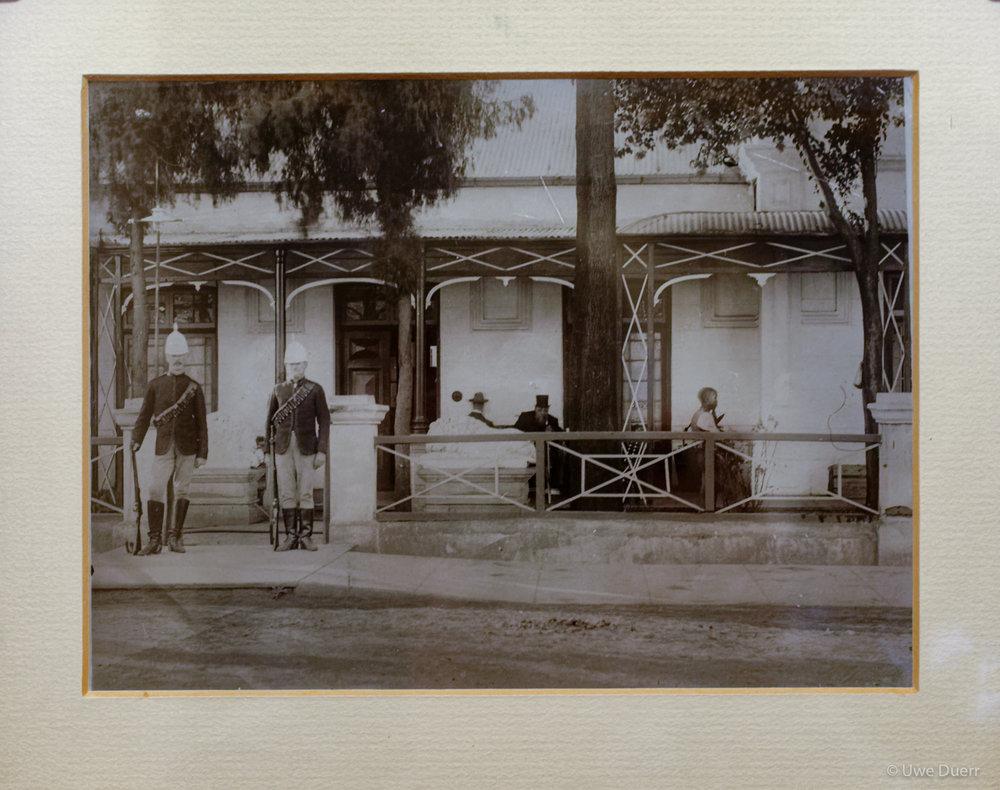 Photograph in Paul Kruger Museum, Pretoria.