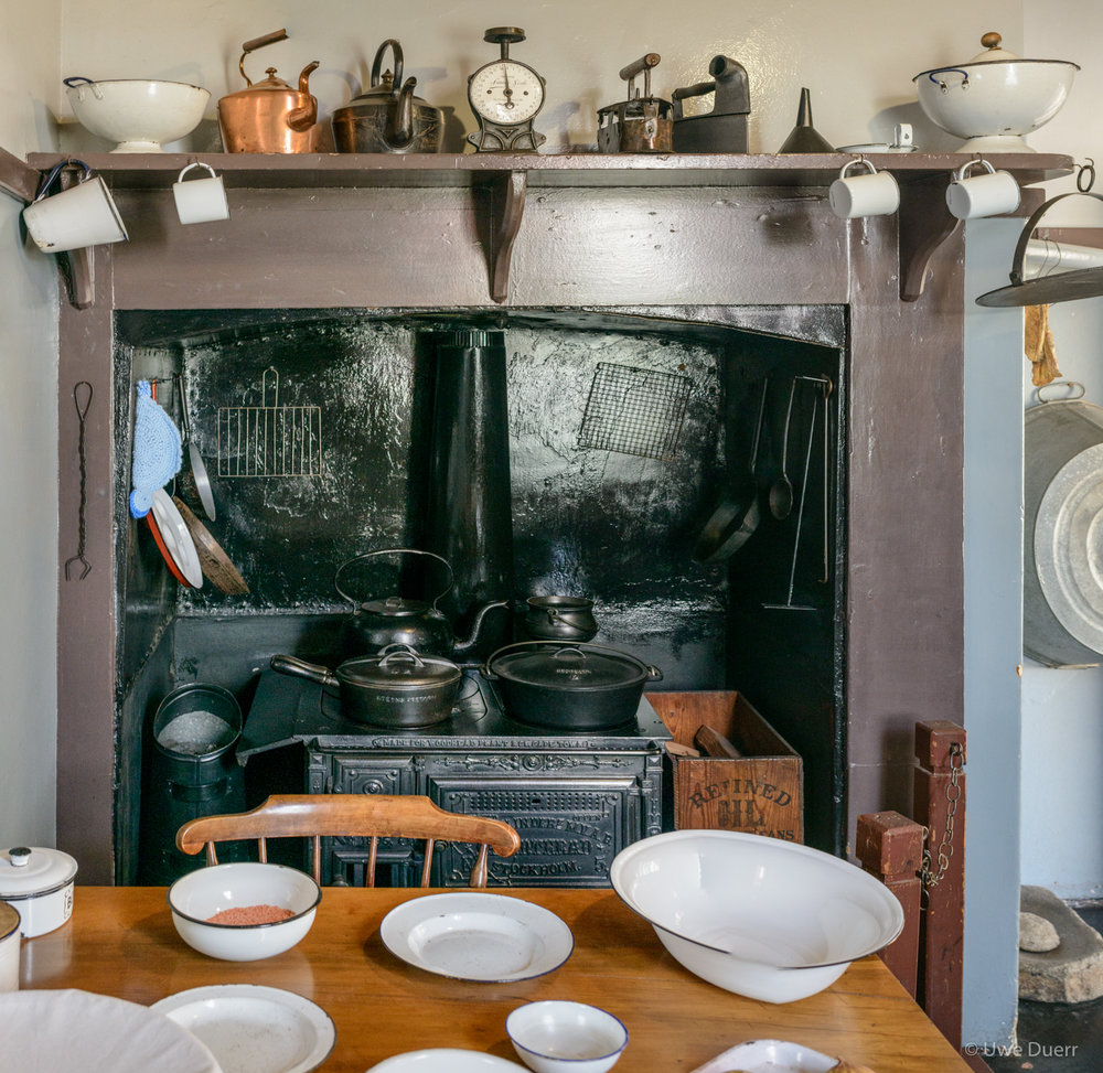 Kitchen in Paul Kruger Museum, Pretoria.