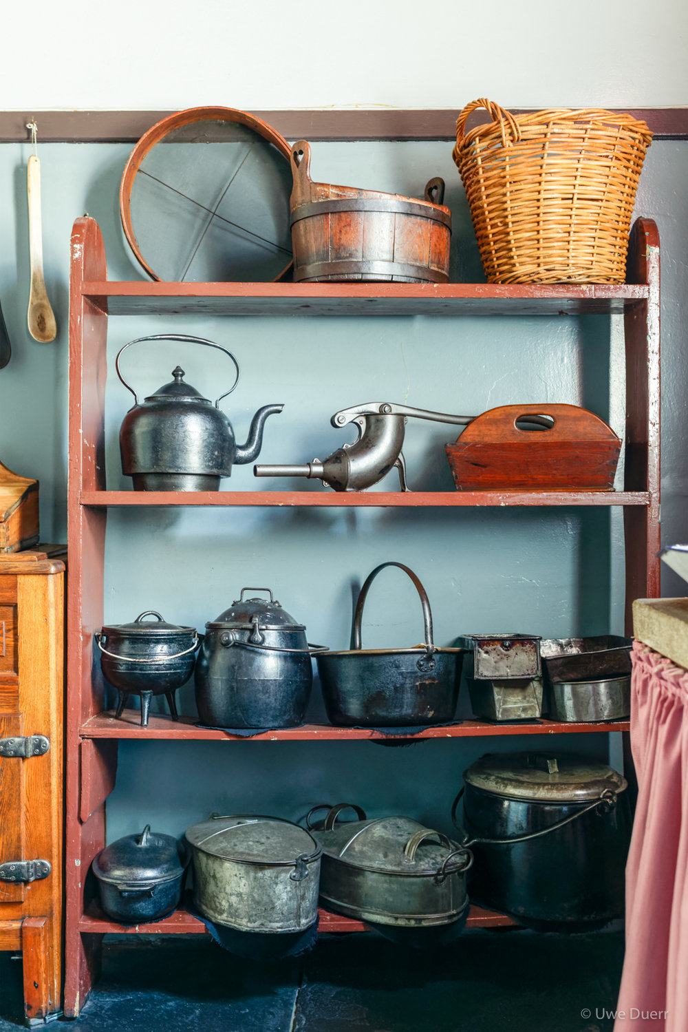 Details of the kitchen in Paul Kruger Museum, Pretoria.