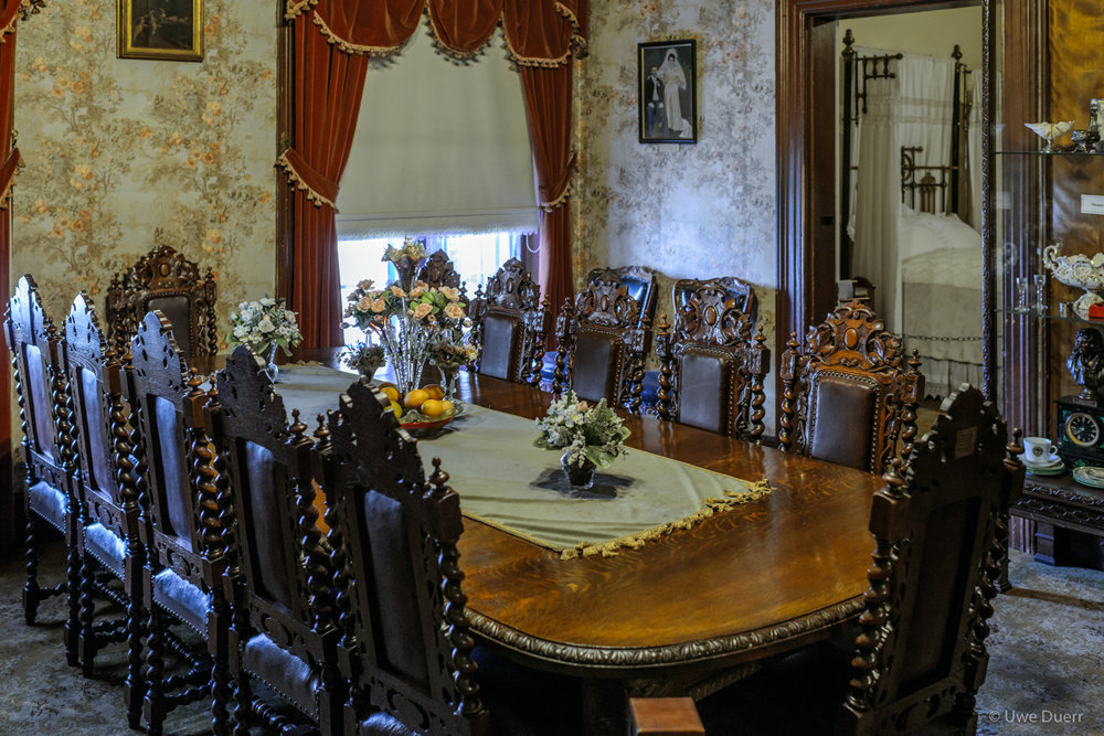 Dinning room in Paul Kruger Museum, Pretoria.