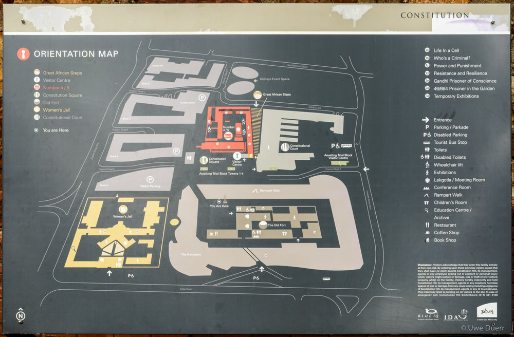 Orientation Map of the Constitution Hill.