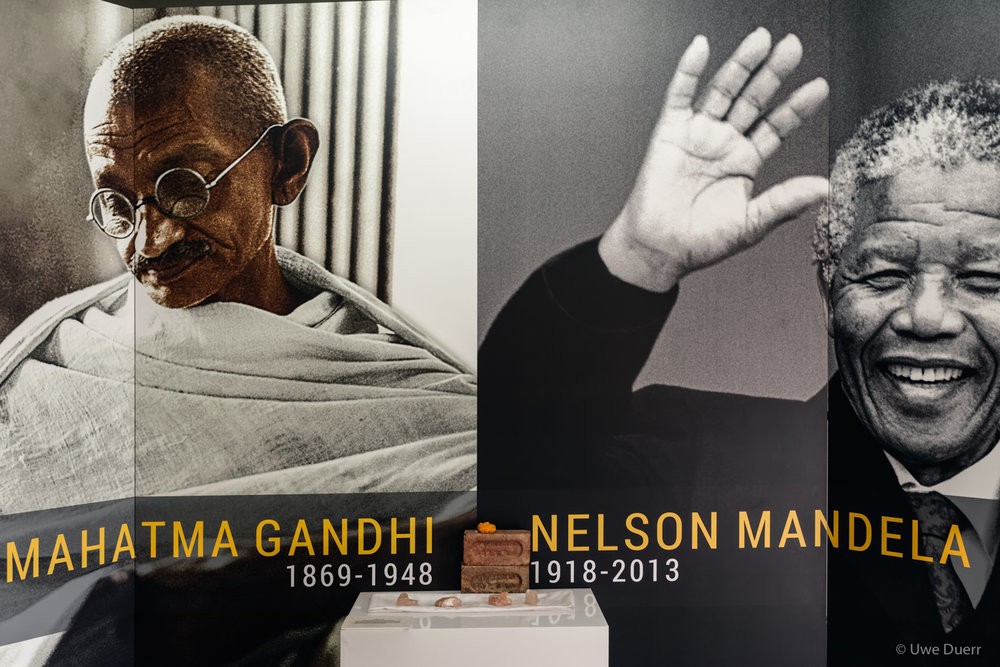 Exhibition about Mahatma Gandhi and Nelson Mandela in the Prison 4/5.