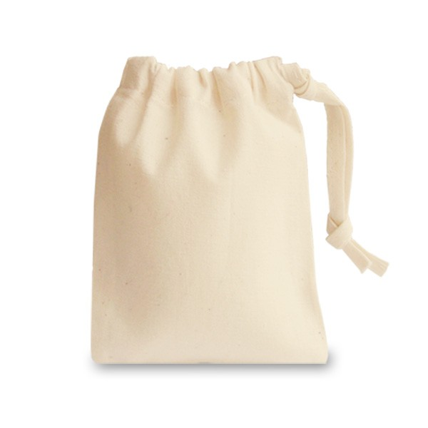 Natural Cotton Drawstrings Bags pack of 5 - Ideal for shopping and storing produce