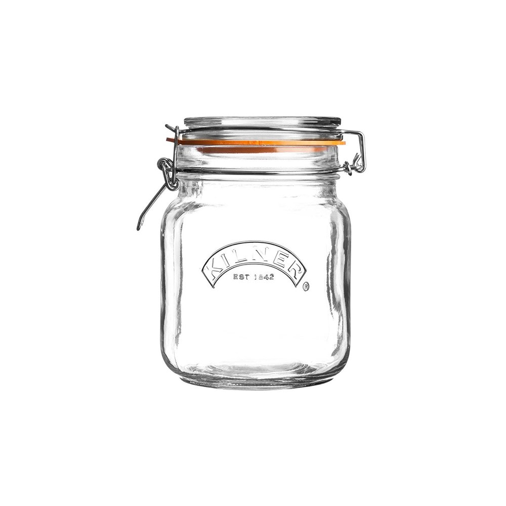 Kilner Square Clip Top airtight Jar 1L - Perfect storage for dry foods