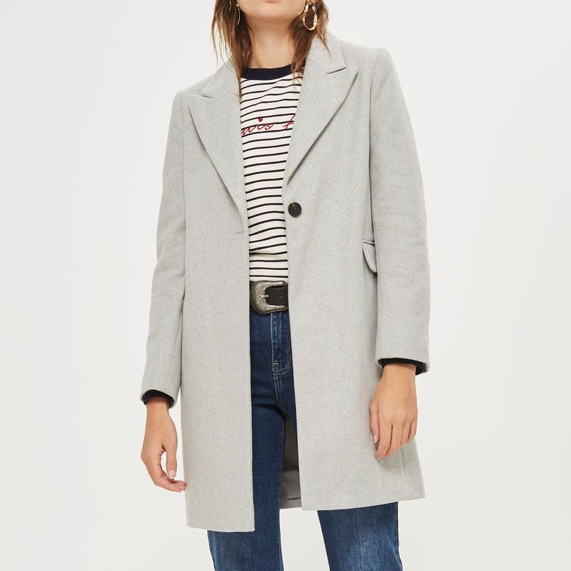 Grey fitted coat - A classic to be dressed up or down