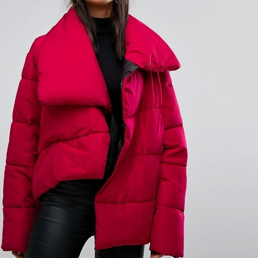 Oversized Padded Red Coat - To keep you warm, also down-free!