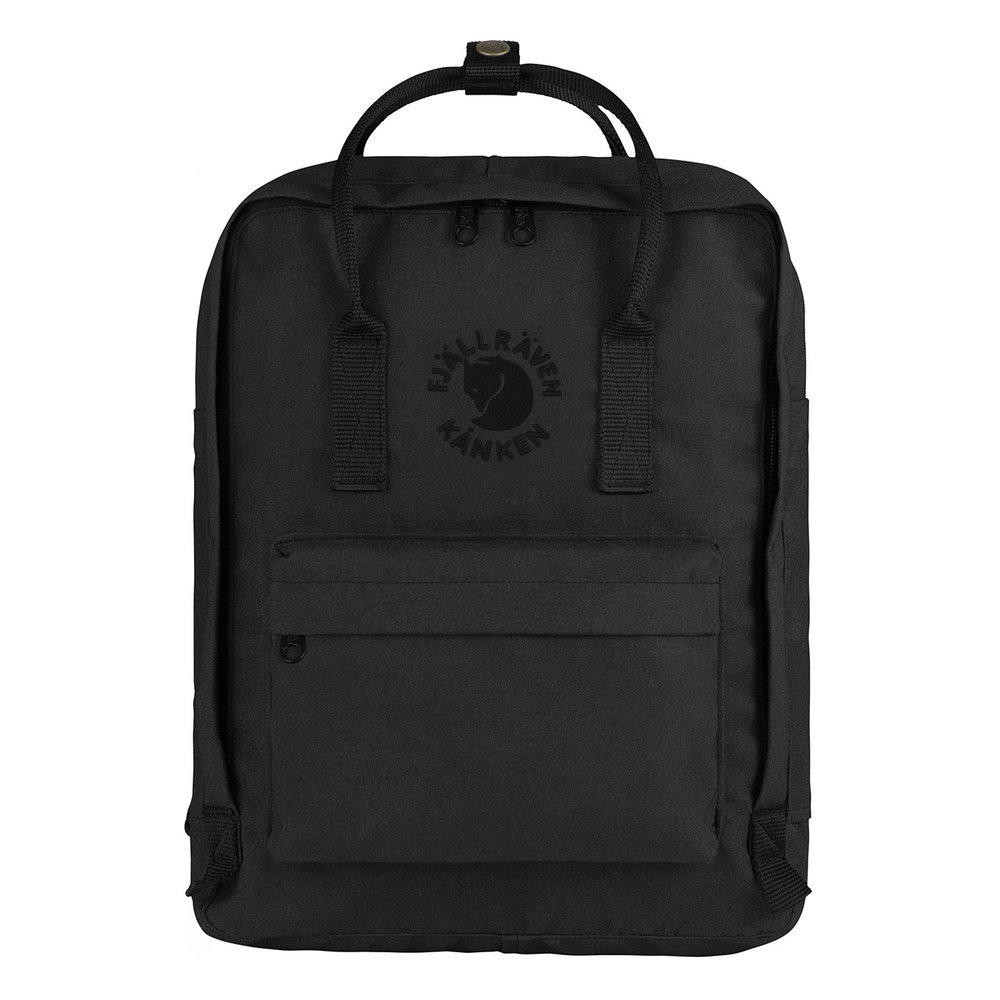 FJALLRAVEN Black Backpack - Made from recycled materials, 100% Vegan