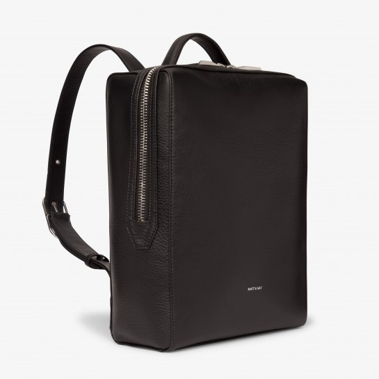 Black Laptop Backpack - Leather-free, fits a 13'' laptop and more!
