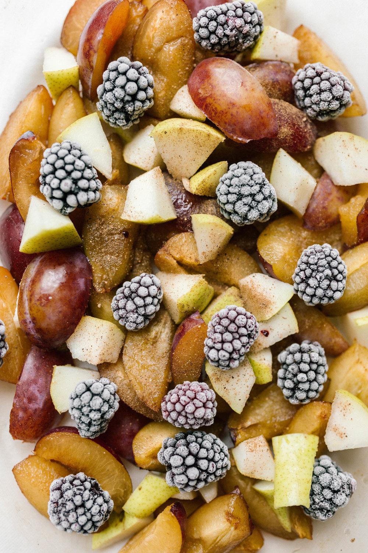 Autumn Plum & Blackberry Crumble | Vegan & GF | JOY FELICITY JANE