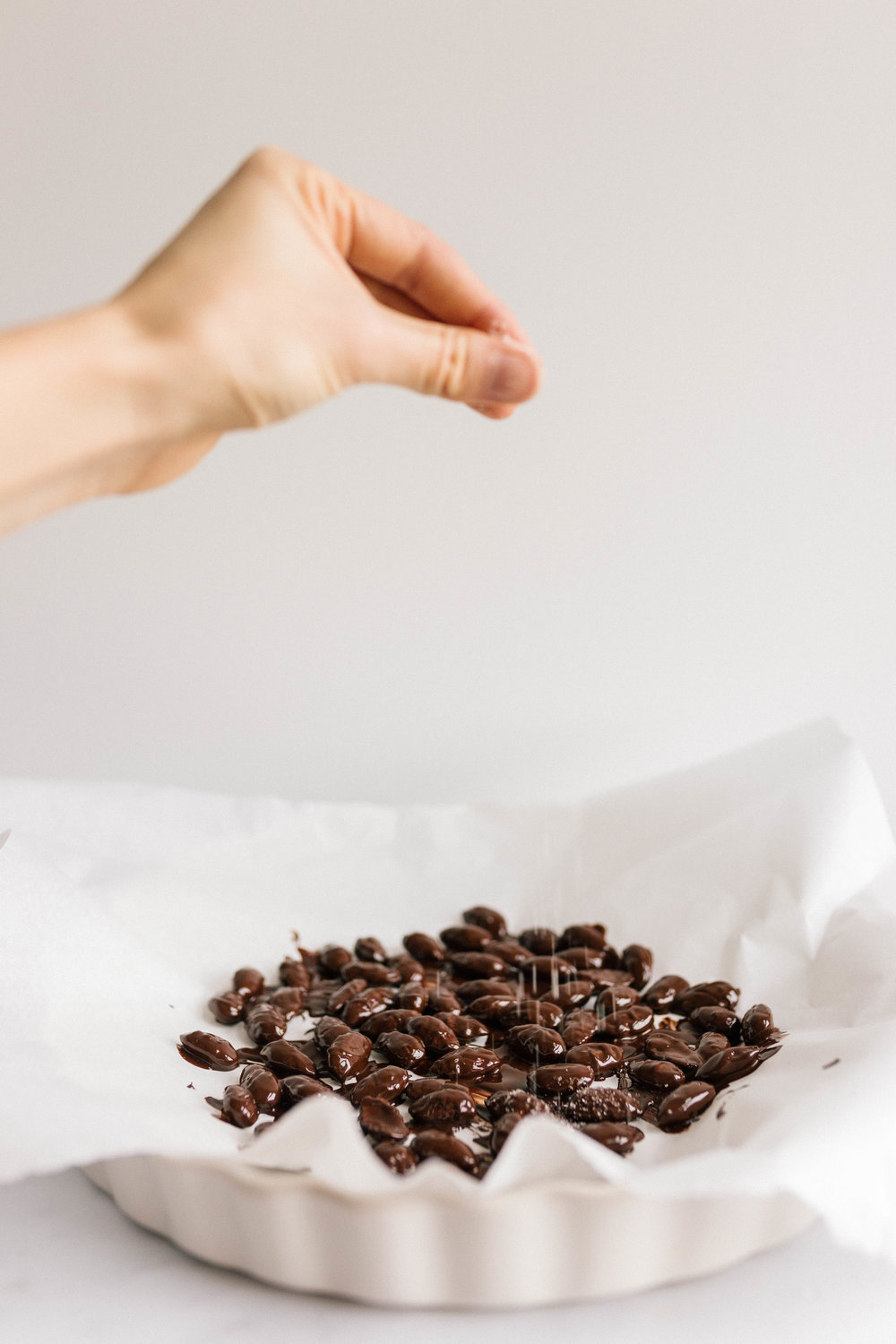 Salted Dark Chocolate Roasted Almonds | Joy Felicity Jane
