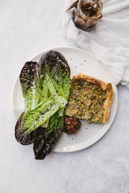 Vegan Spinach & Corn Quiche | Joy Felicity Jane