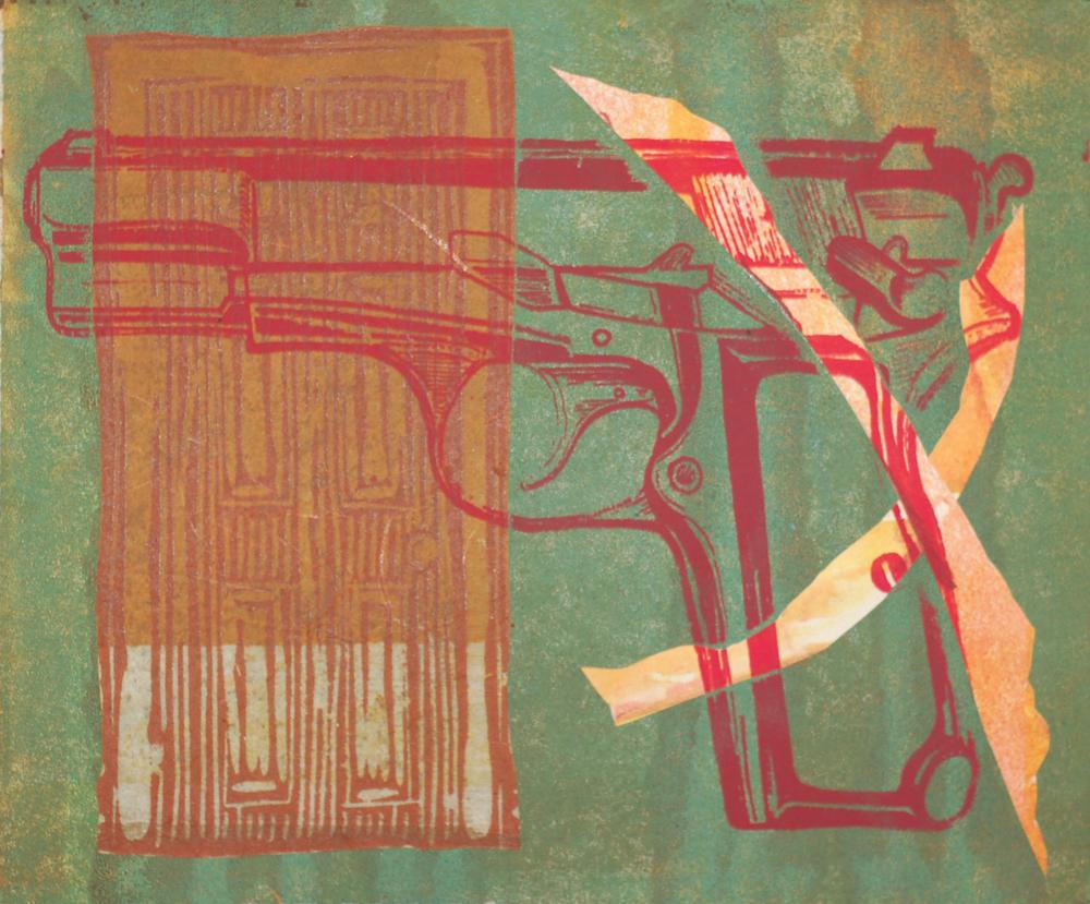 Door and weapon