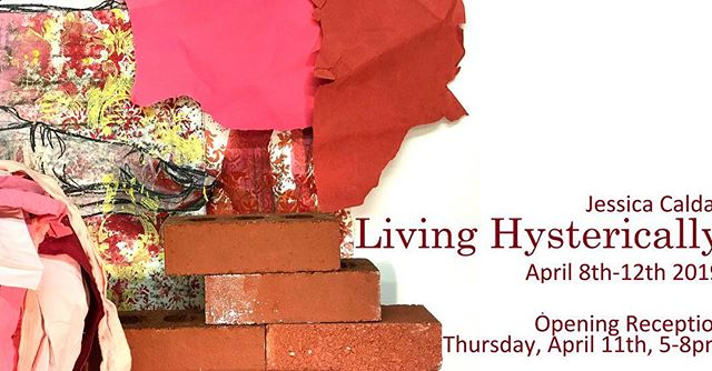 """Please join @zinkaproject for her MFA Thesis Exhibition, """"Living Hysterically,"""" which runs from  April 8th-April 12th with a reception on Thursday, April 11th from 5-8pm at the Ernest G. Welch school of Art and Design. """"Living Hysterically"""" is an immersive exhibition of inter-disciplinary works that explore women's lived experience through three generations. Against a backdrop of social and political history, the work illustrates the forces working in women's lives that create a spectrum of violence, from the mundane to the traumatic. This work claims space for women's stories too often denied in public, creating representations that are more complex and thoughtful than the usual discourse.  #livinghysterically #thesis #mfathesis #multidisciplinary #mixedmedia #interdisciplinary #sculpture #drawing #installation #women #everydayviolence #livedexperience"""