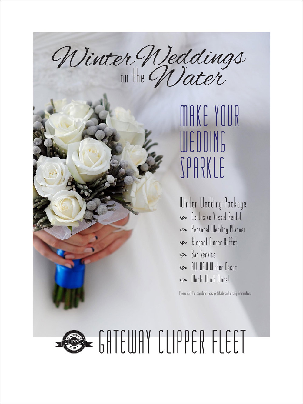 Winter Wedding Package Bridal Show Poster