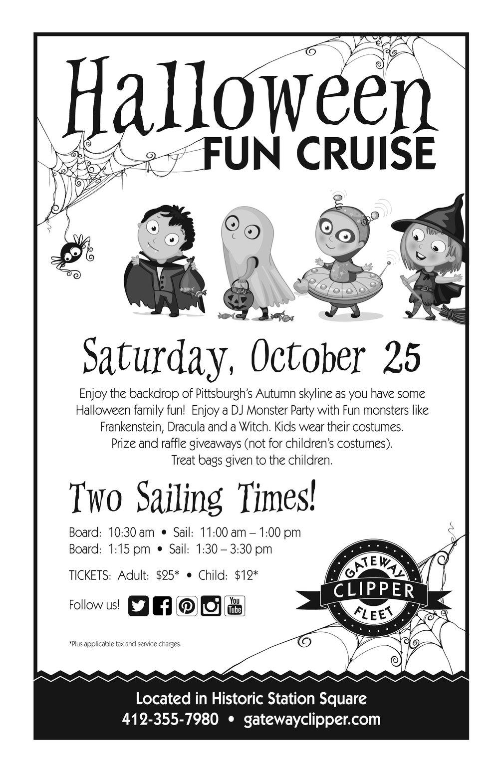 Fun piece for a Kids' Halloween Cruise