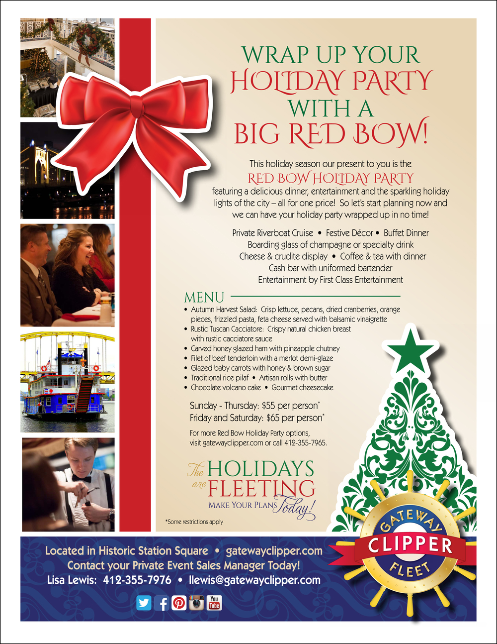 Private Event Holiday Flyer