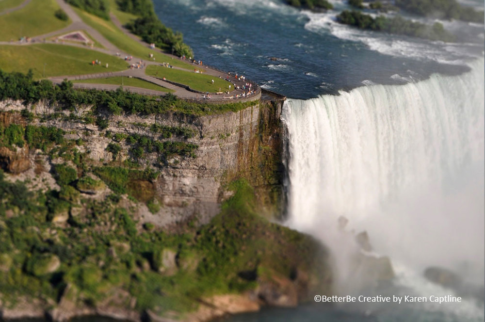 A miniaturization technique on a photo of Niagara Falls.