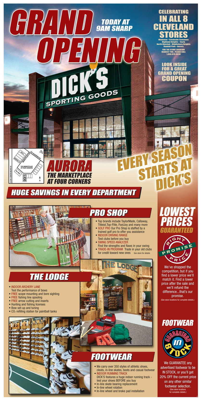 Sunday CircularGrand Opening concept - this intro page wrapped the regular weekly circular in Grand Opening markets