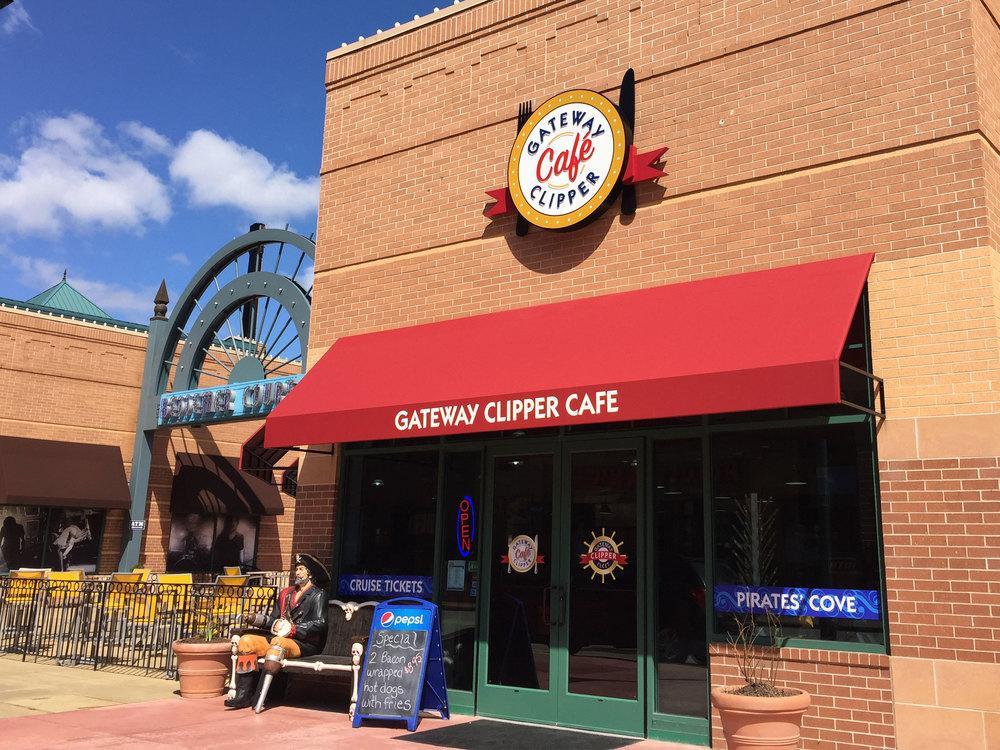 Gateway Clipper Café - concept and execution of exterior signage