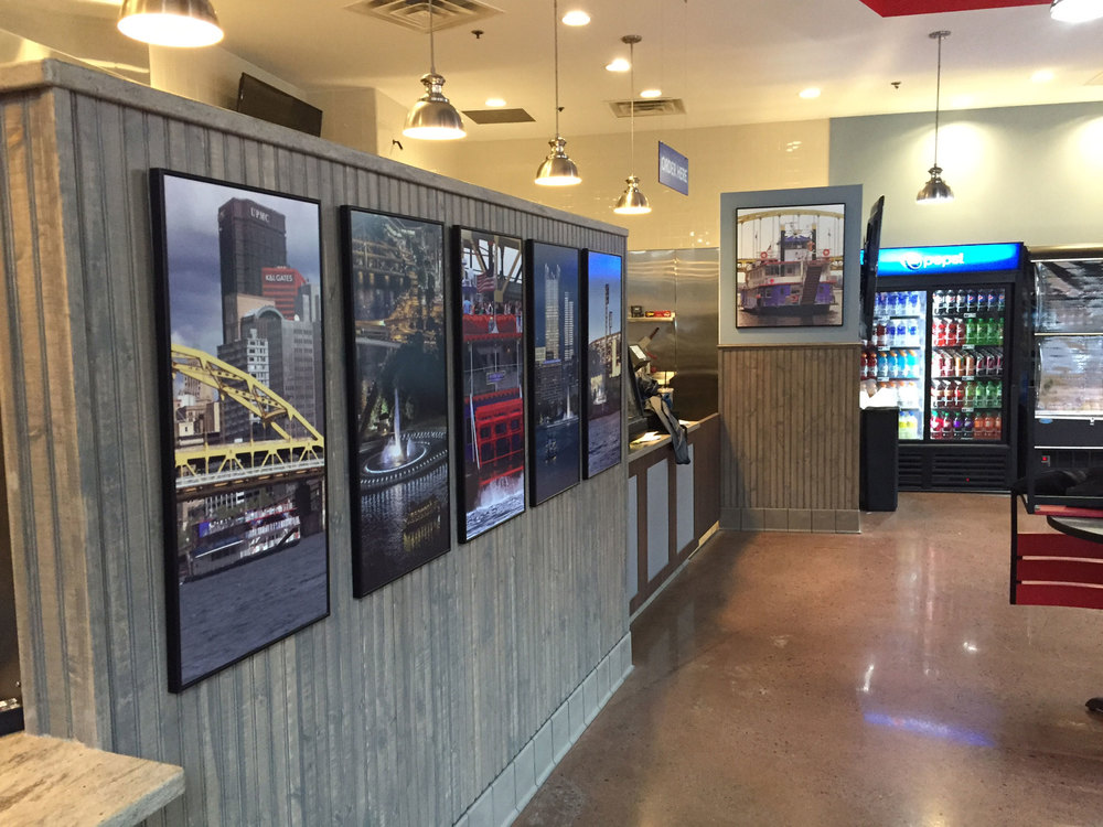 Gateway Clipper Cafe - interior signage concept, design and execution