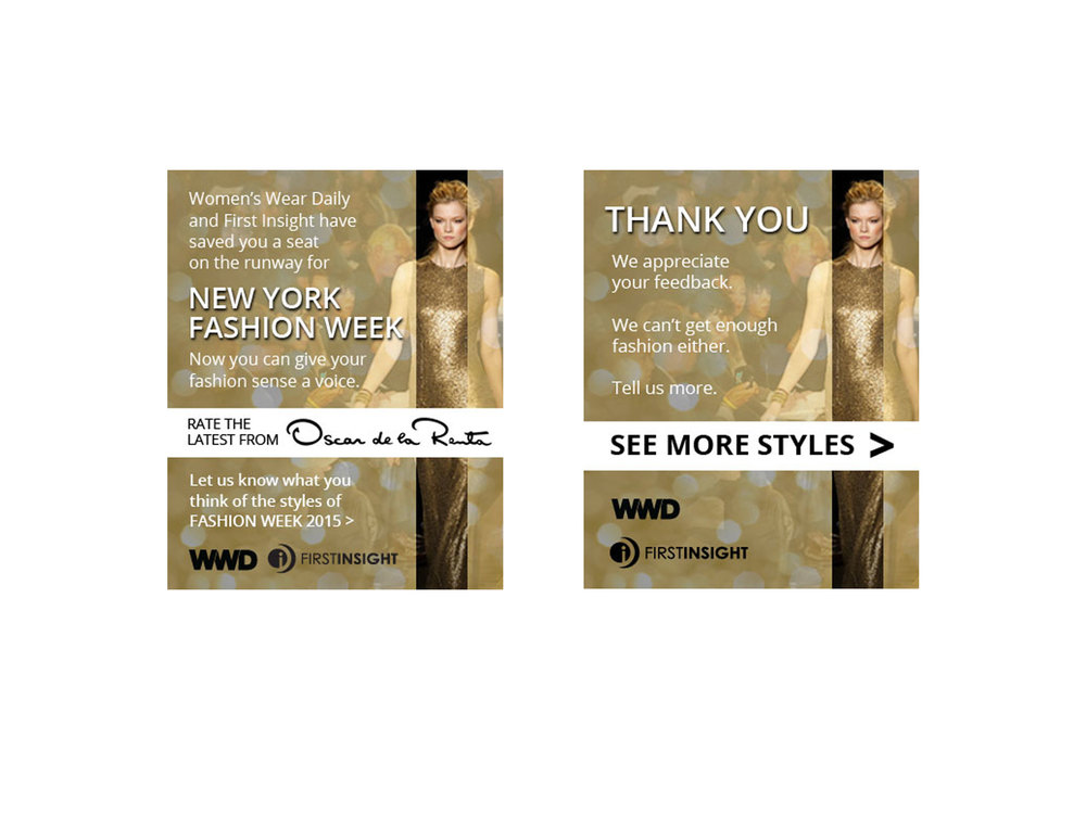 New York Fashion week mobile ad