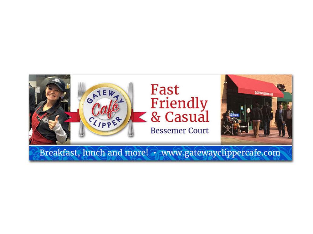 Gateway Clipper Café rotator ad