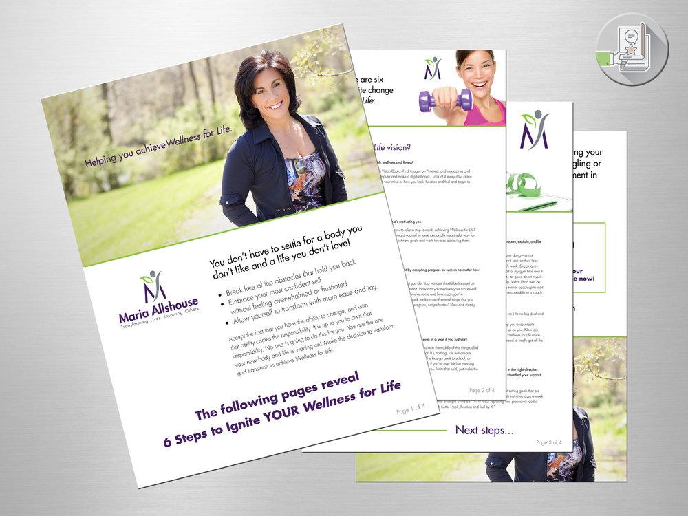 Wellness for Life - Maria Allshouse. Marketing PDF