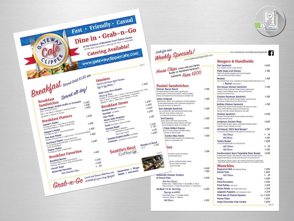 Gateway Clipper Café-menu