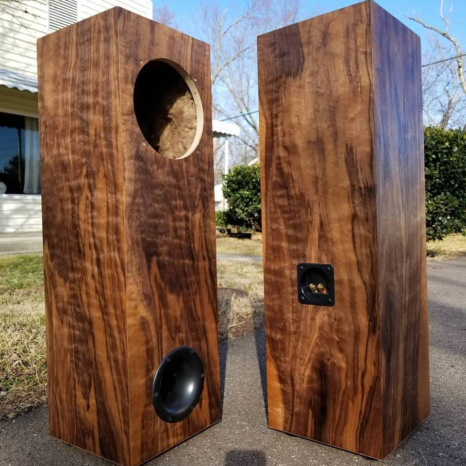 1.3 Tower Cabinet Pair (Custom w/ highly figured Walnut Veneer)