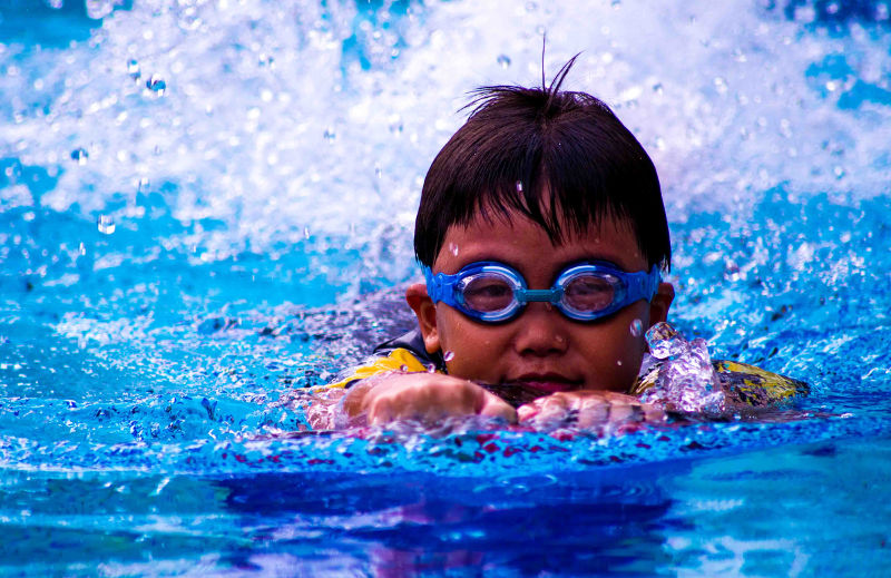 Swimming lessons train children to be disciplined
