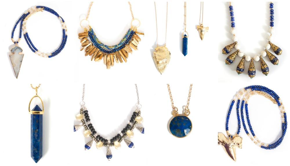 Miller Mae Designs pieces featuring Lapis Lazuli