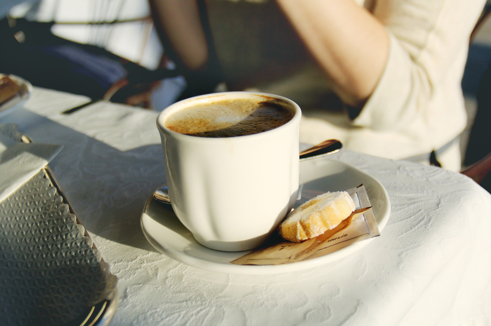 - Cappuccino and Tiramisu at La Calcina, our fav place on the water -