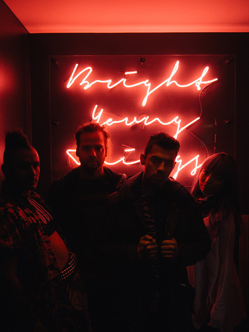 Band DNCE photographed by Henry Dean, www.HenryDean.co.uk