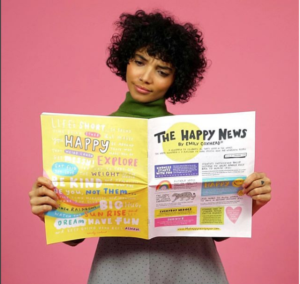 We love the  @thehappynewspaper  by  @emilycoxhead ! A newspaper that celebrates all things good in the world!  If you're a journalist, founder or any creative professional contact us for expert tax advice.