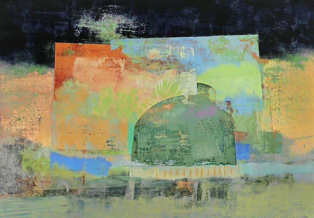 "The Path Home, acrylic on panel, 30 x 44"""