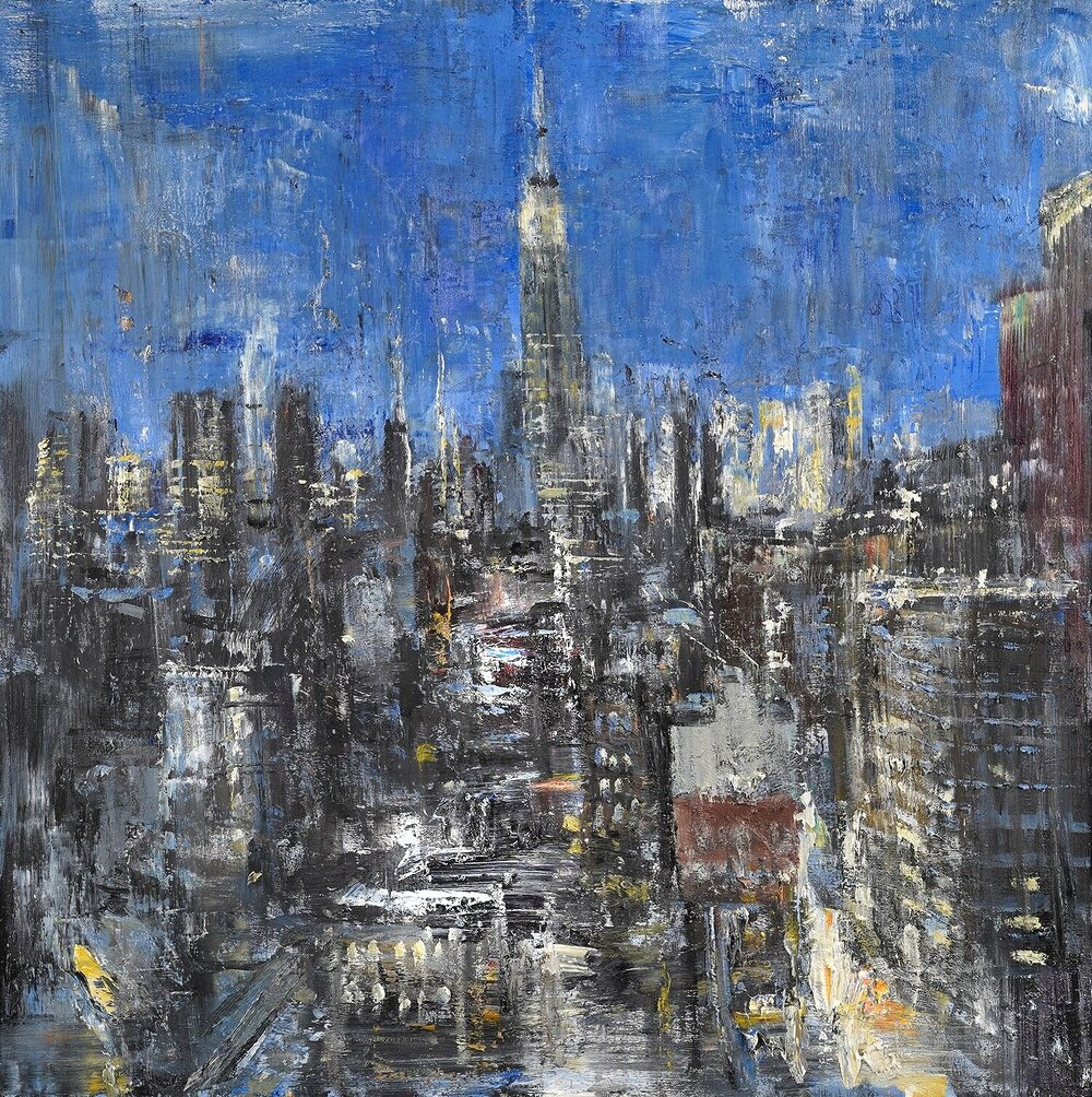 City Study, oil on panel, 24 x 24""