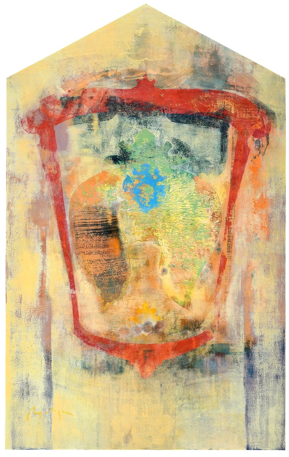 "Etruria XV, acrylic on panel, 48 x 30"""