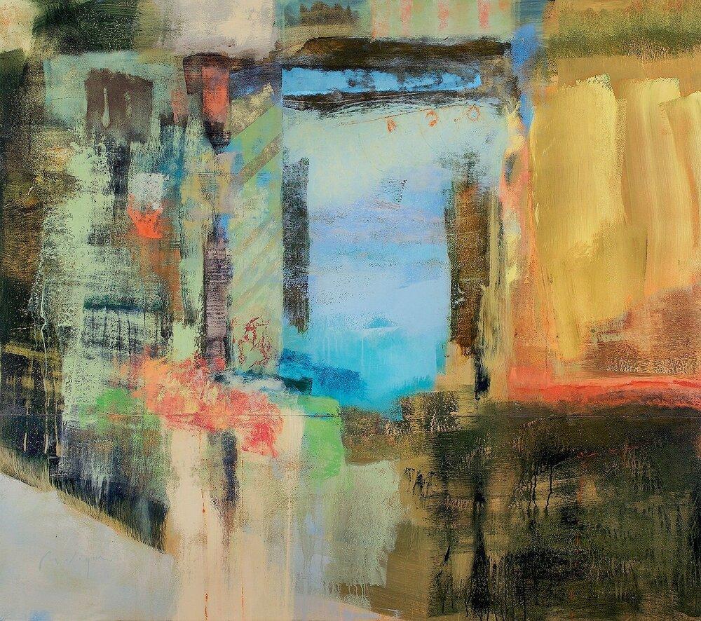 "Silence of the Blaskets, acrylic on panel, 60 x 66"""