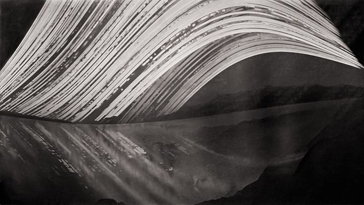 Stefan Roberts, A moving point; Governors Bay (2011 / 2012 -1 year exposure). Pigment ink on paper, 297 x 167 mm
