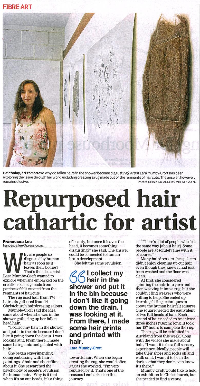 Christchurch Press newspaper article. 2013