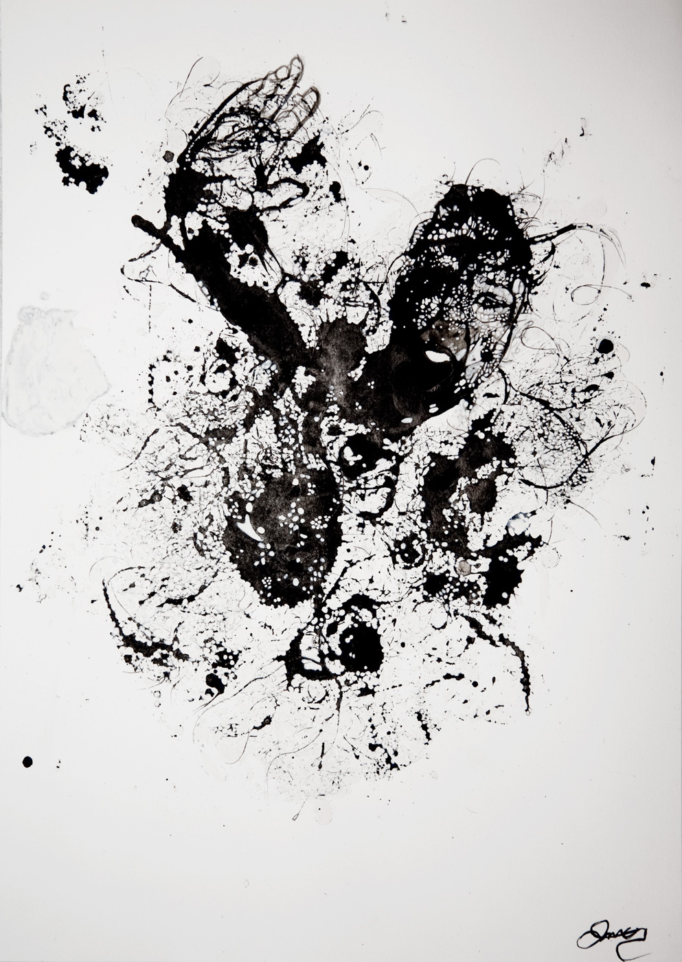 Lara Mumby-Croft. 2014. Tangled. (Ink on paper). Collection of the artist.