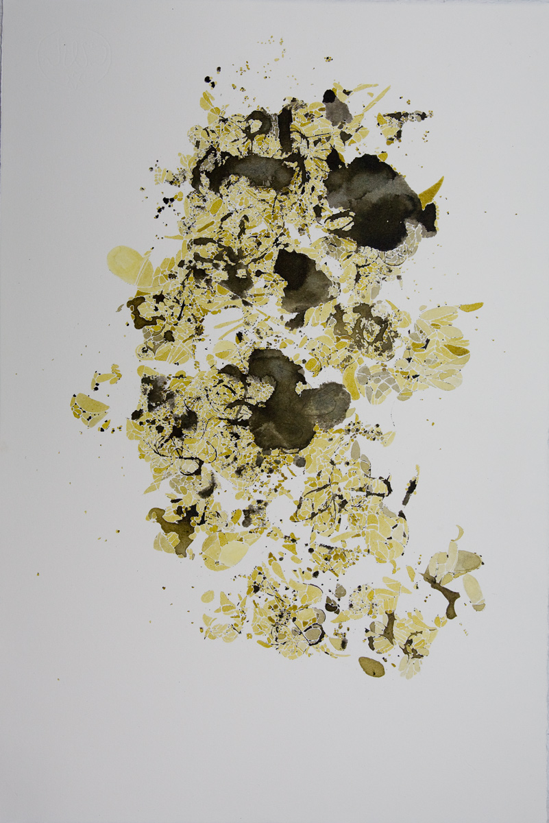 Lara Mumby-Croft. 2014. Debris. (Ink on paper). Collection of the artist.