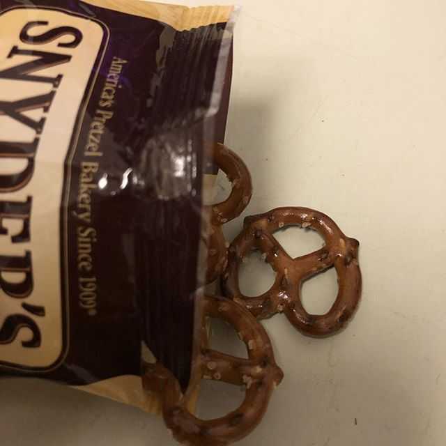 These pretzels are making me thirsty.