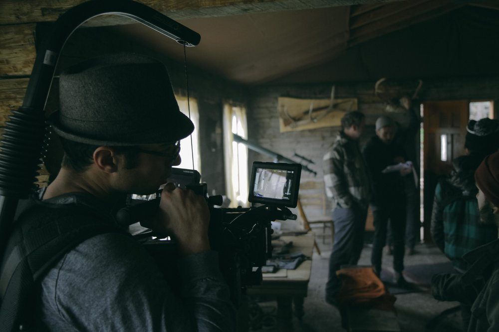 Khalid Mohtaseb on set of Anomaly
