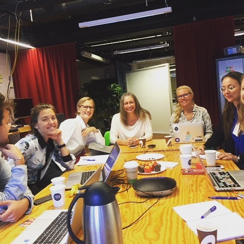 CapA's Tanya Marvin Horowitz and Anette Nordvall mentoring at Ericsson Garage, Stockholm