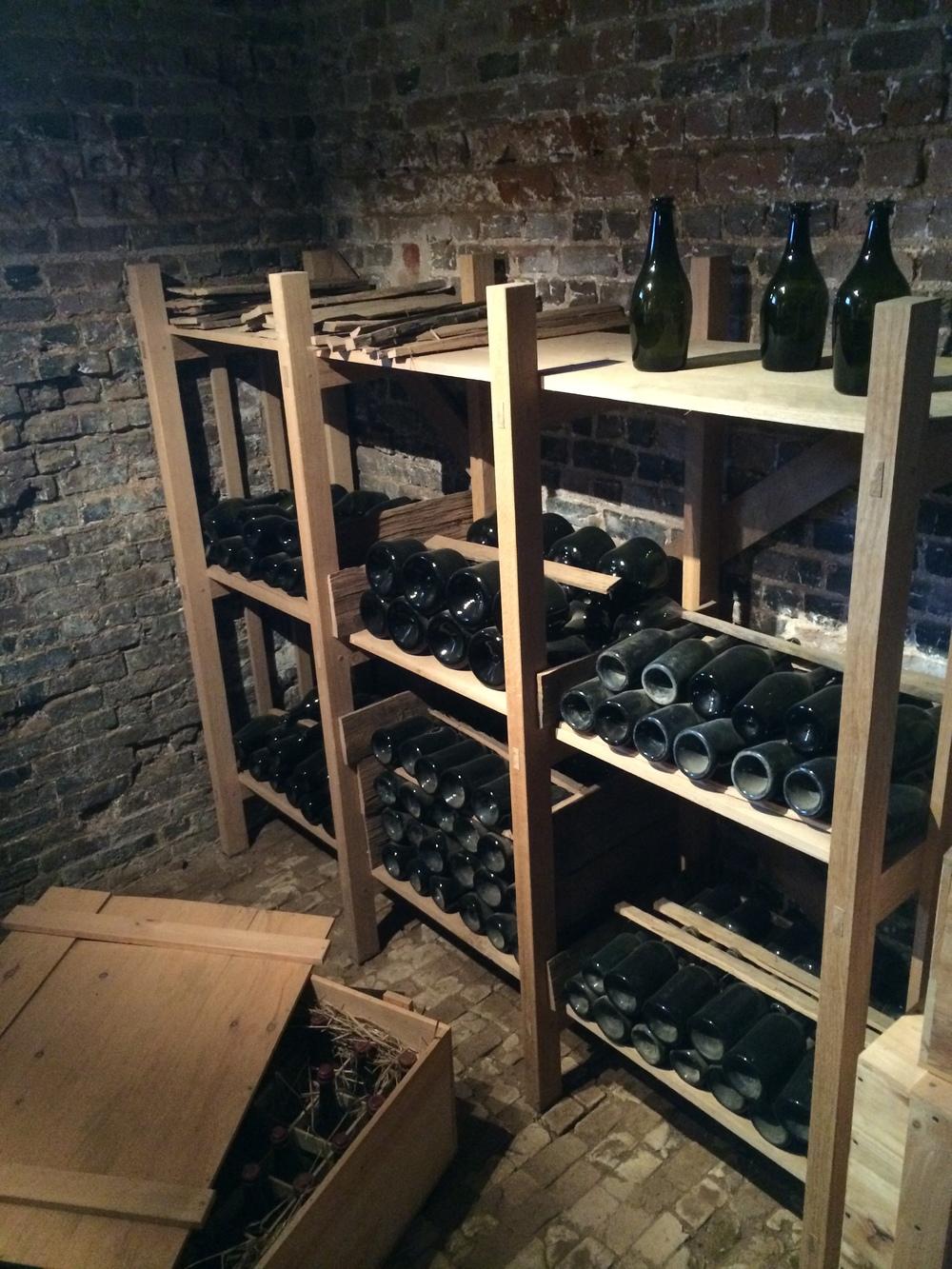 TJ's wine cellar at Monticello.
