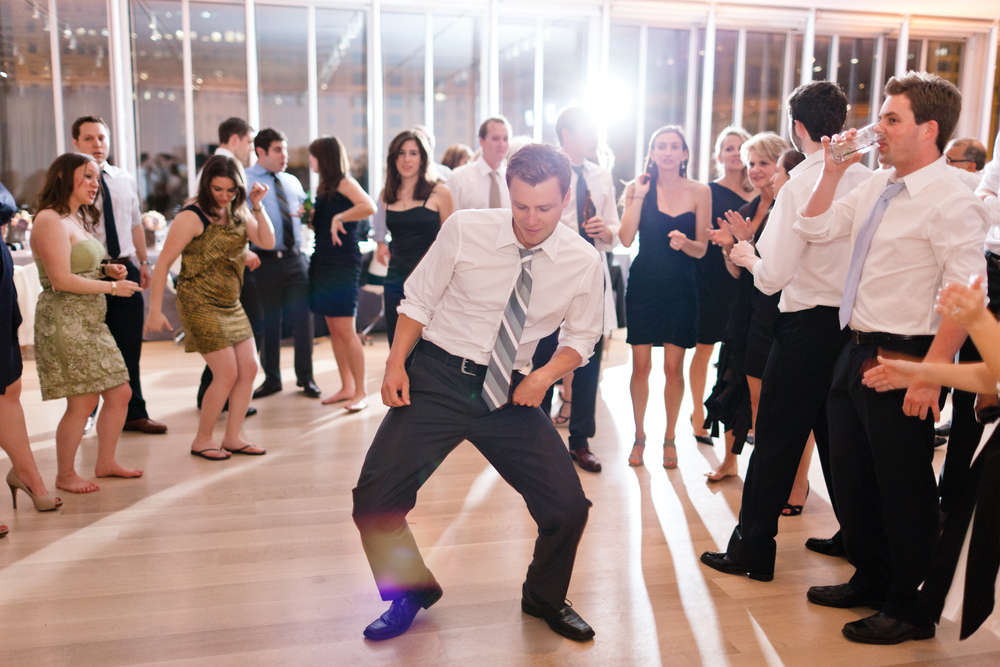 First recommendation: Grant is a top notch wedding guest.  He brings the moves.
