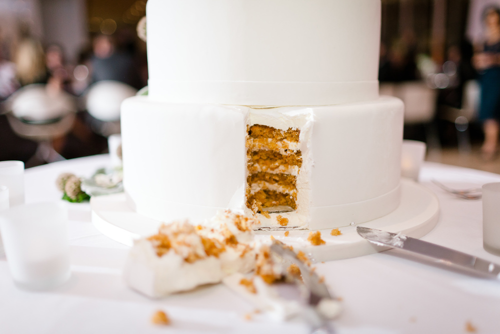 Beware of the wedding cake.  The sugar requires a sweeter wine as a complement.