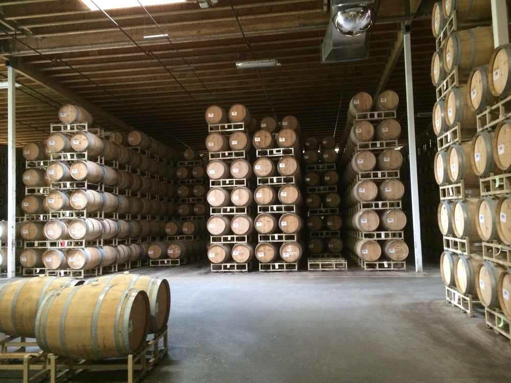 A large scale barrel aging program from a large winery in Washington State. Thatsa'lotta barrels!